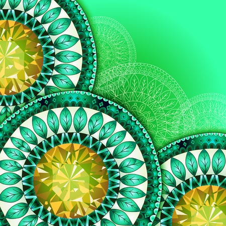 mexican party: Vector abstract floral decorative background. Template frame design for card with place for your text.