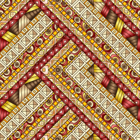 doddle: Original drawing tribal doddle rhombus. Seamless pattern with geometric elements.