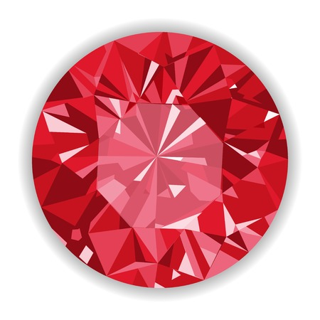 Ruby or Rodolite gemstone with shape