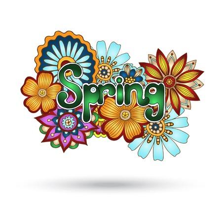 Henna Paisley Mehndi Floral Vector Element  Vector