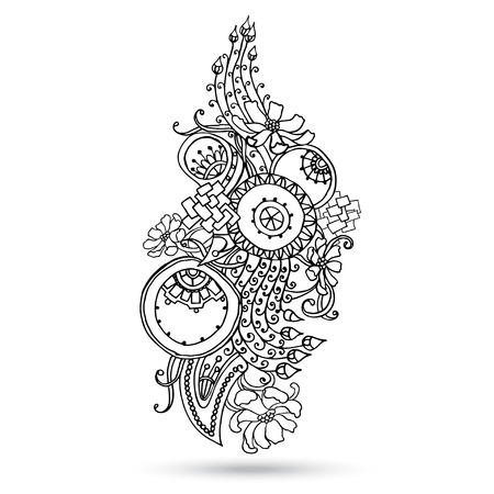 Henna Paisley Mehndi Abstract Vector Element  Vector