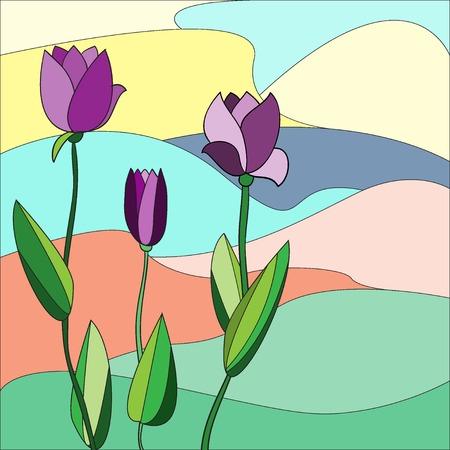 Floral background. Vector