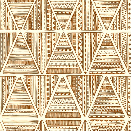 clipping mask: Seamless triangle pattern. Vector  tribal ethnic background. Geometric abstract texture.  Used Clipping Mask for easy editing.