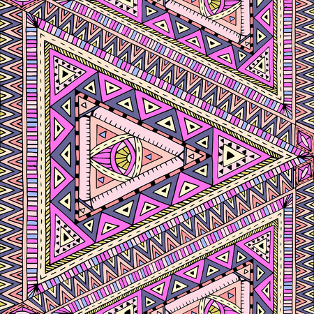doddle: Original drawing tribal doddle rhombus.