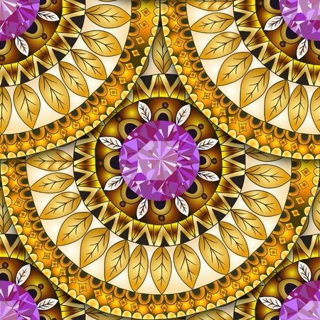 batik pattern: Seamless geometric pattern in fish scale design.