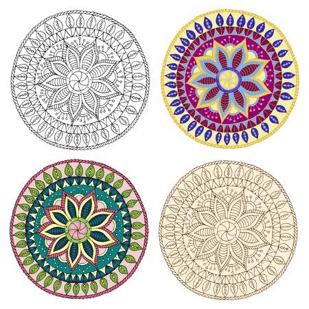 ethno: Set of ethnic design elements.