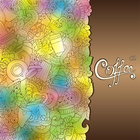 Coffee Hand-Drawn Illustration. Vector