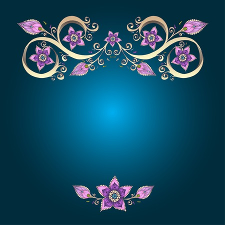 Decorative floral background with flowers. photo