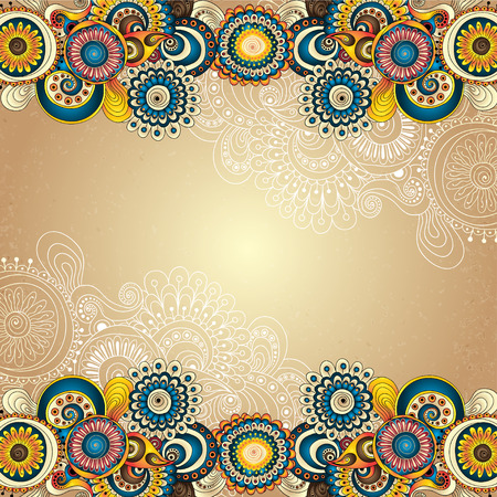 Vector abstract floral decorative background. Vector