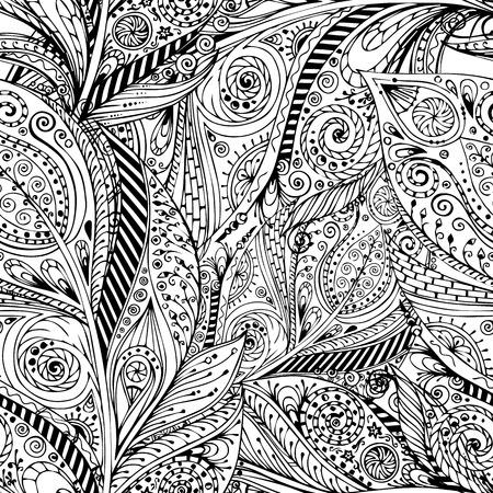 Seamless flower retro background in vector. Illustration
