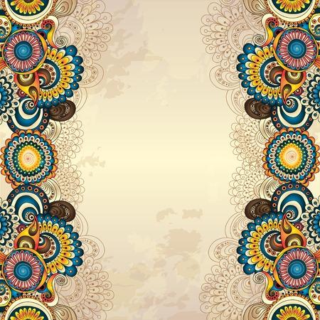bordes decorativos: Resumen de vectores de fondo floral decorativo. Vectores
