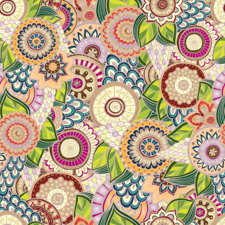 textile design: Seamless flower black and white retro background pattern in vector