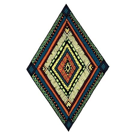 doddle: Original drawing tribal doddle rhombus. Illustration