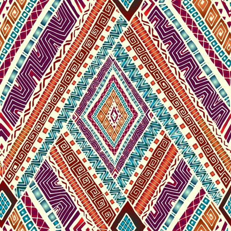 Seamless pattern with geometric elements. 矢量图像
