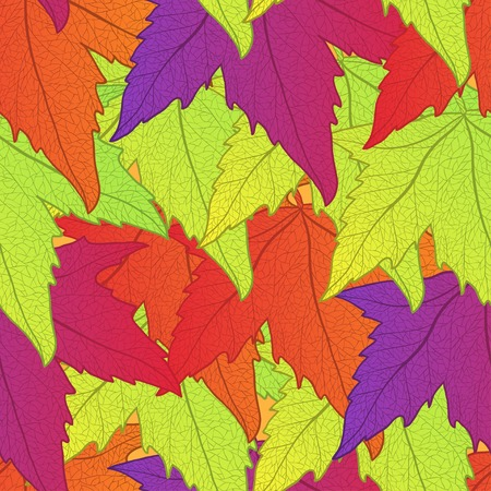 Autumn leaves seamless pattern. Vector