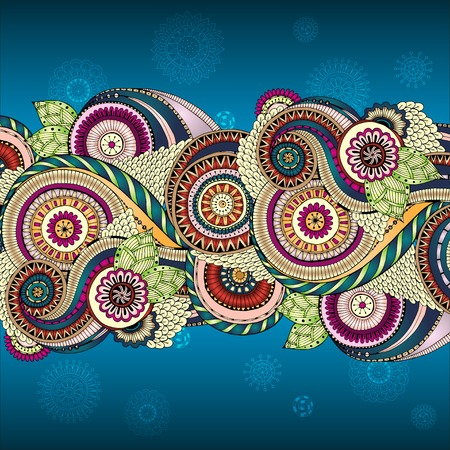 mexican party: Vector floral decorative background.