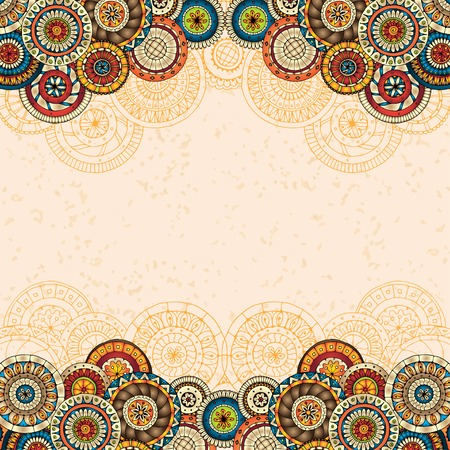 Vector floral decorative background.
