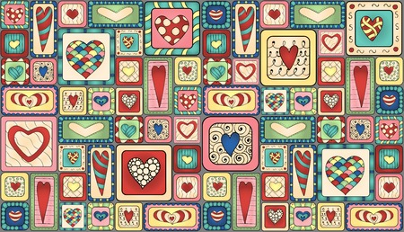 Collection of original drawing doodle hearts. Template frame design for love card with set of doodle hearts. Vector