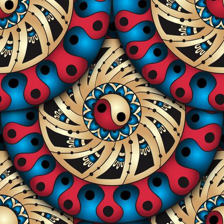 ornament  jewellery: Seamless geometric pattern in fish scale design. Illustration