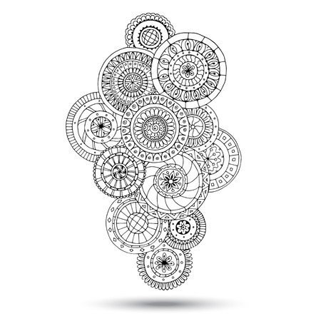 mandala tattoo: Henna Paisley Mehndi Doodles Design Element.