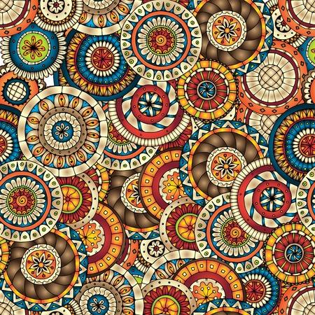 Seamless floral pattern avec des griffonnages et concombres Illustration