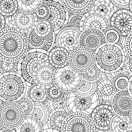wallpaper doodle: Seamless floral doddle pattern and cucumbers.