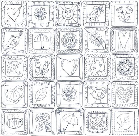 Geometric seamless patchwork style pattern. Illustration