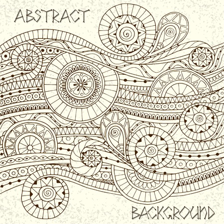 Doodle style background pattern in vector. Vector