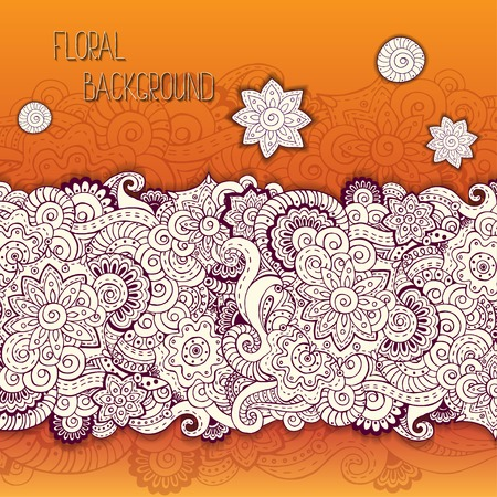 Abstract floral background pattern in vector. Vector