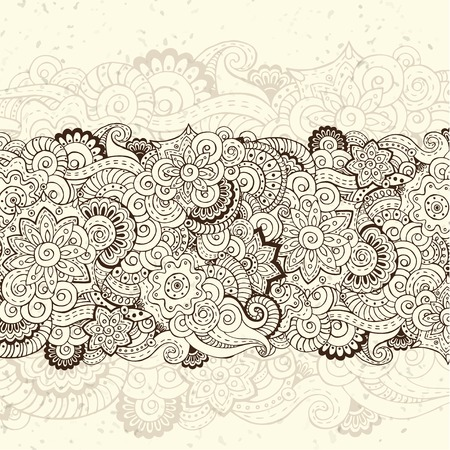 Abstract floral retro background pattern. Ilustrace
