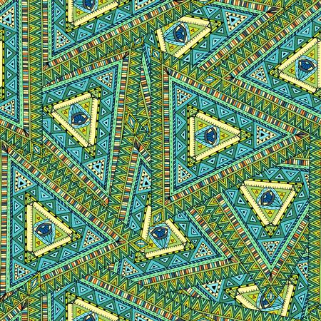 doddle: Tribal doddle ethnic seamless pattern.
