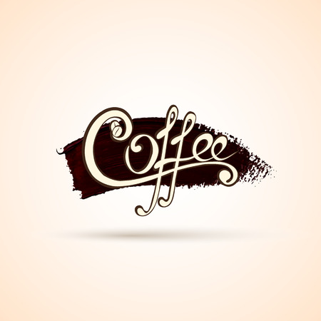 your logo: Vector coffee shop labels with original handwritten calligraphy for your logo, website, package or advertisement.