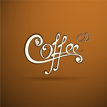 your logo: Vector coffee label with calligraphy for your logo