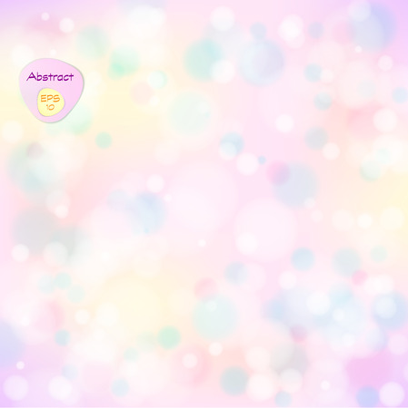Vector illustration of soft colored abstract background. Elegant abstract background with bokeh lights and stars.  Holiday Abstract Glitter Defocused Background With Blinking Stars. Blurred Bokeh. Ilustrace