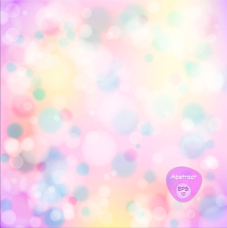 blurred lights: Vector illustration of soft colored abstract background. Elegant abstract background with bokeh lights and stars.  Holiday Abstract Glitter Defocused Background With Blinking Stars. Blurred Bokeh. Illustration