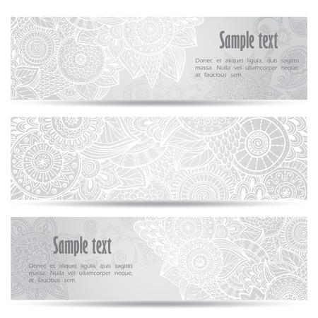 batik: Abstract hand drawn ethnic pattern card set.