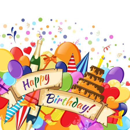 celebration background: Festive Celebration Happy Birthday background Illustration