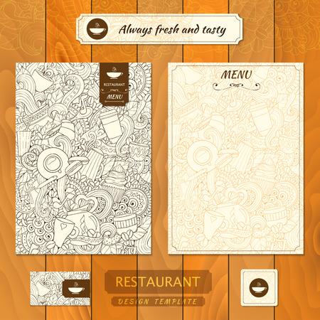 fermo: Corporate identity. Cafe, ristorante ferma stile.