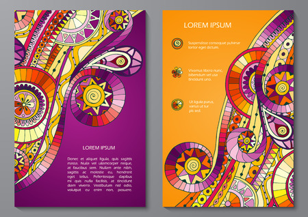 doddle: Set of Poster Templates with doddle pattern.