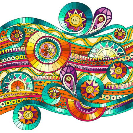 Achtergrond met geometrische mozaïek elementen. Stock Illustratie