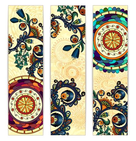 Paisley etnische batik achtergronden.