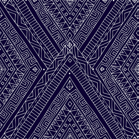 clipping mask: Seamless asian ethnic floral retro doodle black and white background pattern in vector. Henna paisley mehndi doodles design tribal black and white pattern. Used clipping mask for easy editing. Illustration