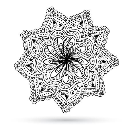 paisley design: Henna Paisley Mehndi Doodles Abstract Floral Design Element. Illustration