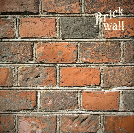 red brick wall: Stone Brick wall Vector illustration background - texture pattern. Illustration
