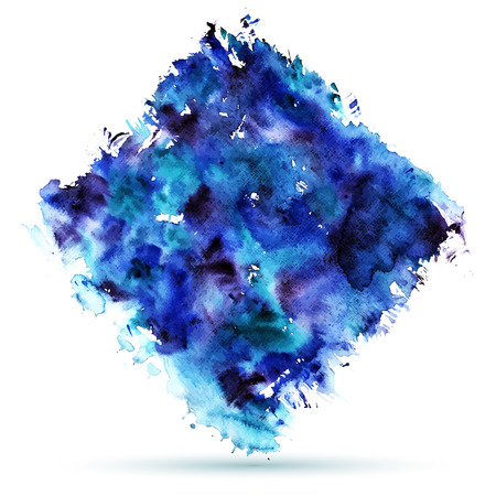 ombre: Abstract blue watercolor background. Wet Watercolor Wash. Ombre Watercolor Vector. Teal Blue Watercolor Background. Illustration