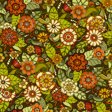 abstract flowers: Seamless pattern with flowers. Ornate texture, endless pattern with abstract flowers. Seamless pattern can be used for wallpaper, pattern fills, web page background, surface textures.