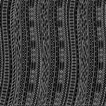 batik: fond Doodle dans le vecteur avec des griffonnages et motif ethnique. Vector motif ethnique peut être utilisé pour le papier peint, motifs de remplissage, des livres et des pages pour les enfants et les adultes colorants. Noir et blanc.