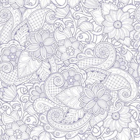 bordure de page: motif ethnique homogène ornementale. modèle de conception florale peut être utilisé pour le papier peint, motifs de remplissage, textile, tissu, emballage, textures de surface pour la conception