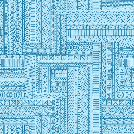 fillings: Seamless asian ethnic retro doodle background pattern in vector. Henna  mehndi doodles design tribal pattern. Grunge geometric pattern. Illustration