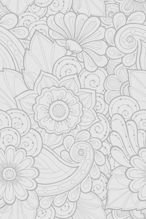 fillings: Seamless pattern with stylized flowers. Ornate zentangle seamless texture, pattern with abstract flowers. Floral pattern can be used for wallpaper, pattern fills, web page background.